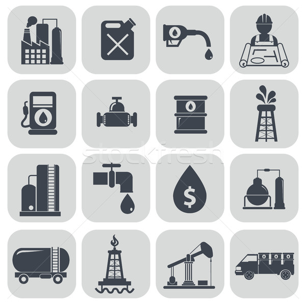 Oil and petroleum icon set. Stock photo © Photoroyalty