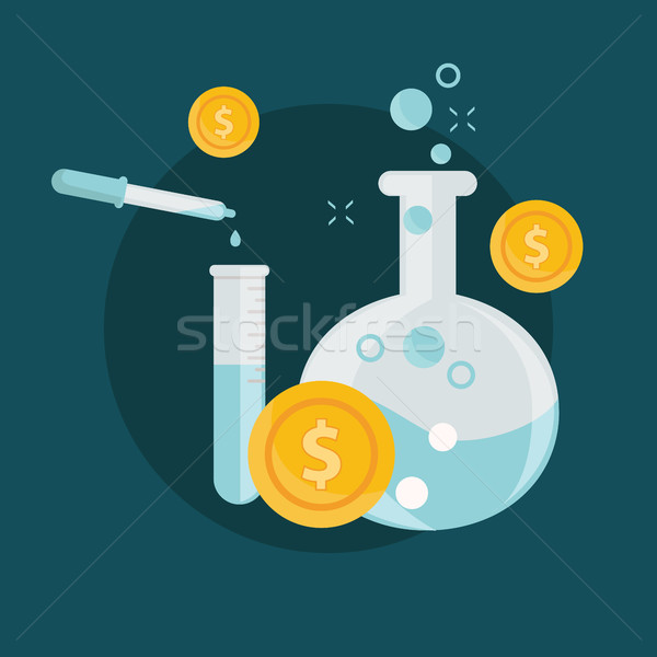 Business alchimie experiment geld ideeën laboratorium Stockfoto © Photoroyalty