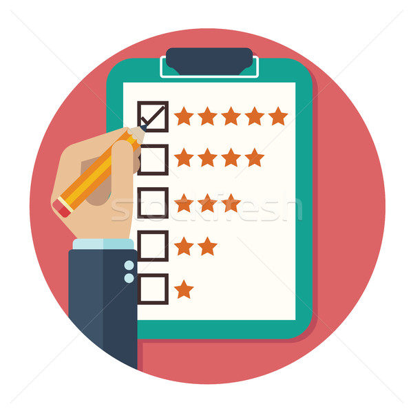 Rating on customer service illustration. Stock photo © Photoroyalty