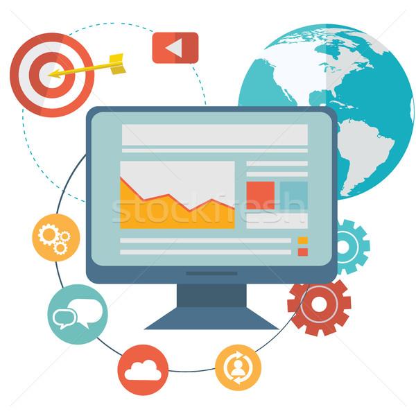Diseno moderna sitio web seo optimización Foto stock © Photoroyalty