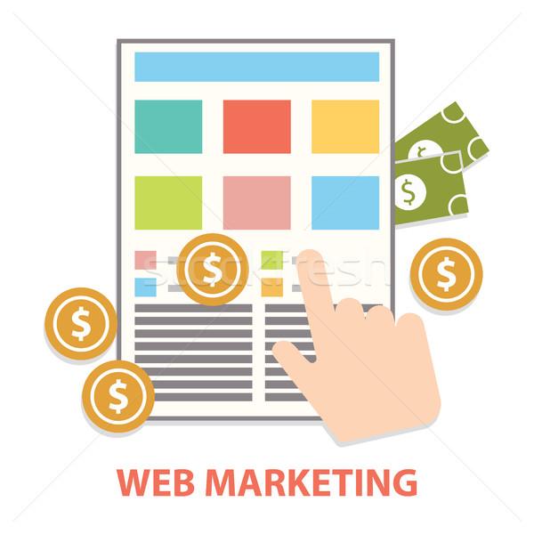 デザイン 現代 ウェブ マーケティング インターネット 広告 ストックフォト © Photoroyalty