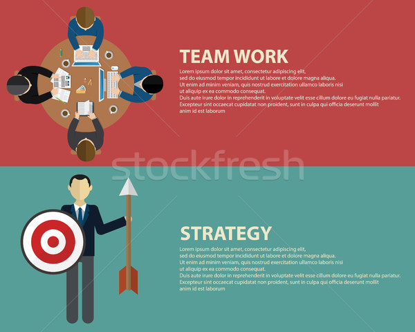 Stílus üzleti stratégia csapatmunka háló bannerek sablonok Stock fotó © Photoroyalty
