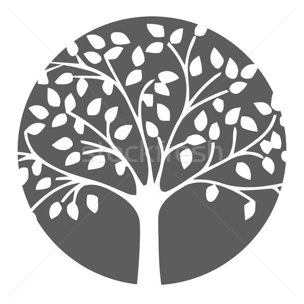 Lasu charakter ikona drzewo wektora Zdjęcia stock © Photoroyalty