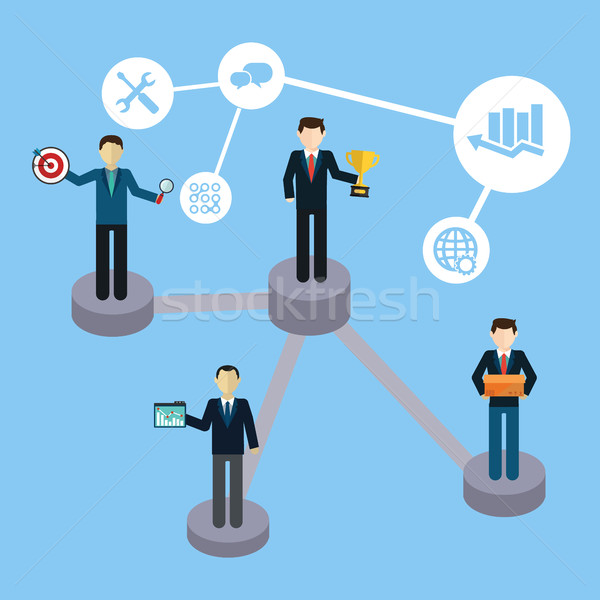 Business bordspel stap illustratie werk Stockfoto © Photoroyalty