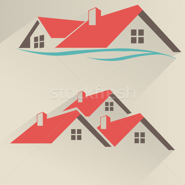 дома аренда икона логотип вектора дизайна Сток-фото © Photoroyalty