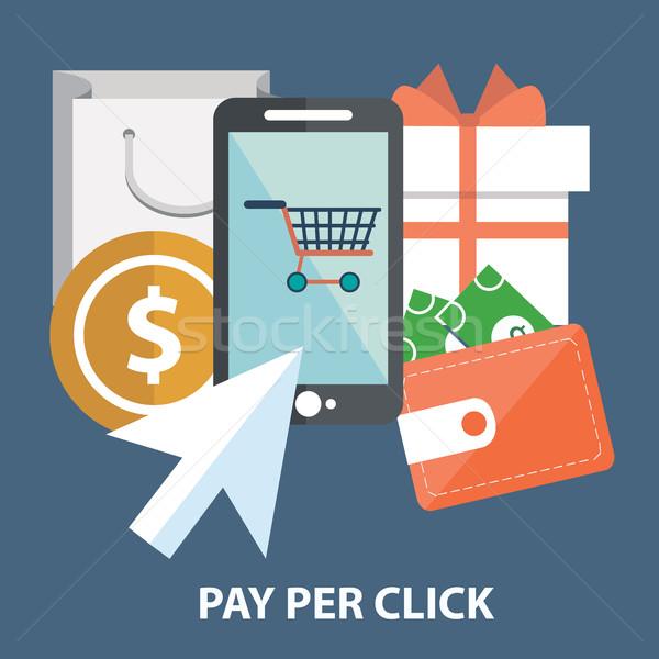 Marketing salaris klikken internet abstract Stockfoto © Photoroyalty