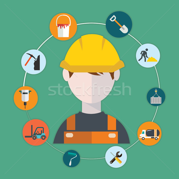 Engineer construction manufacturing worker illustration. Stock photo © Photoroyalty