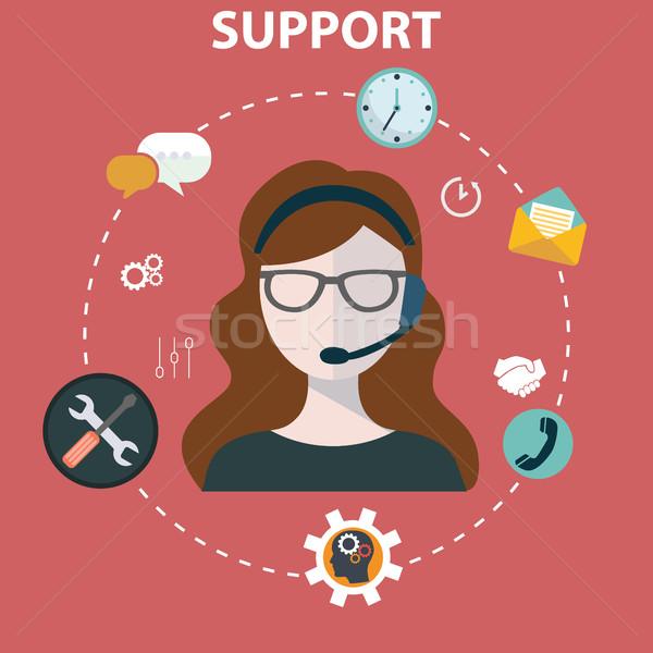 Negocios servicio apoyo Foto stock © Photoroyalty