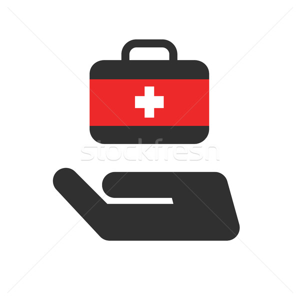 Medical Maintenance vector icon. Style is bicolor flat rounded symbol, rounded angles, white backgro Stock photo © Photoroyalty