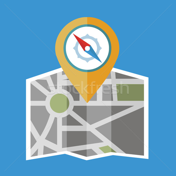 Flat colored location icon Stock photo © Photoroyalty