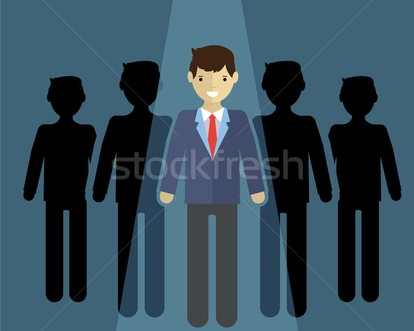 businessman of leader. Standing out of the cround Stock photo © Photoroyalty