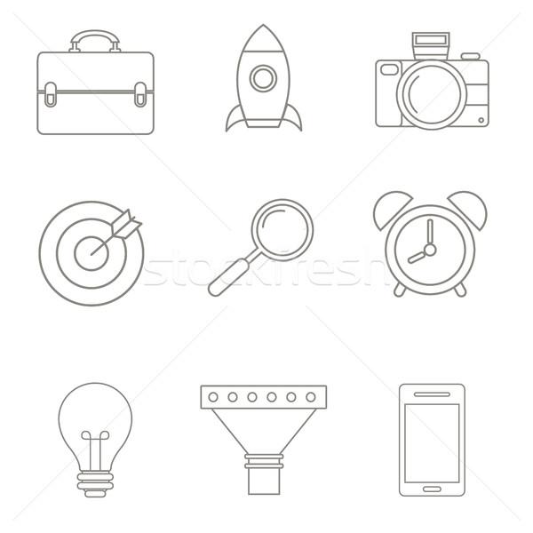ベクトル ビジネス戦略 リニア スタイル 実例 セット ストックフォト © Photoroyalty