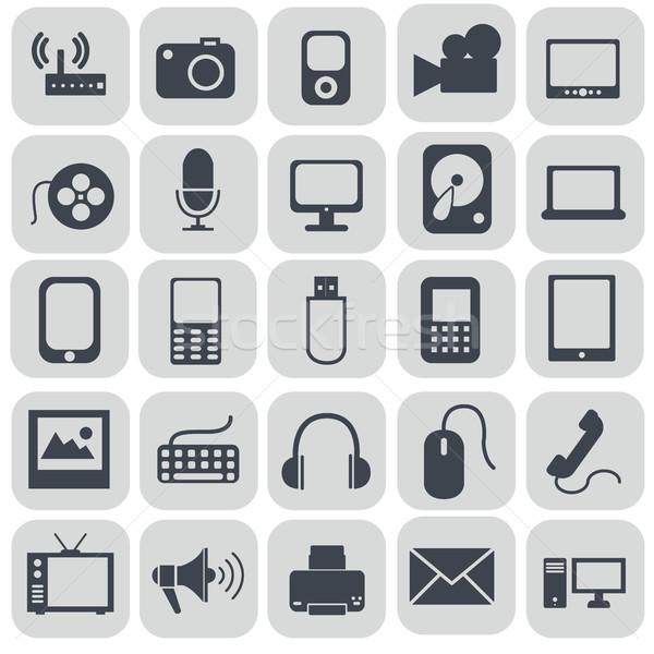 Szett vásárlás ikon szett ikonok számítógép szépség Stock fotó © Photoroyalty
