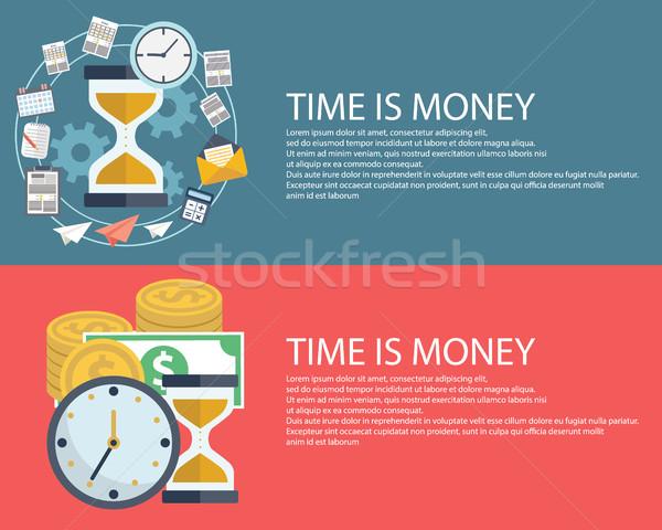 Az idő pénz üzlet modern terv eps10 absztrakt Stock fotó © Photoroyalty