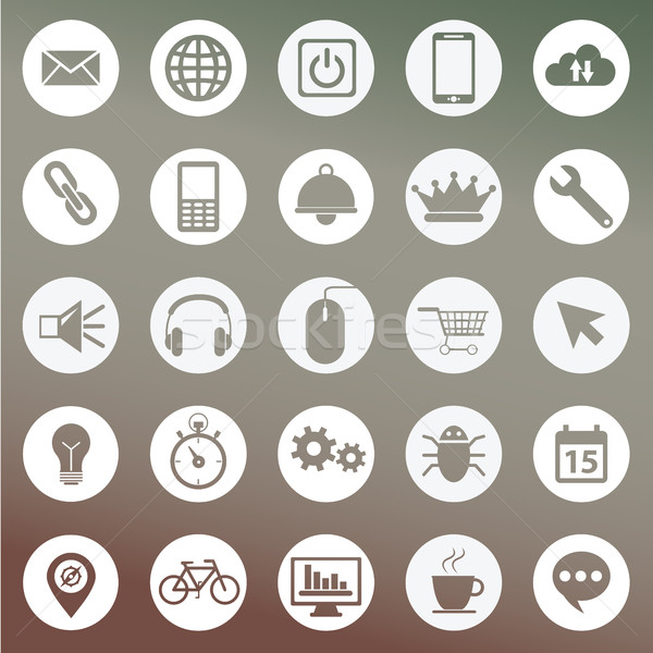 Set of icons for web and user interface design Stock photo © Photoroyalty