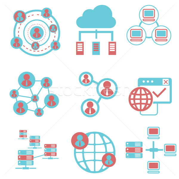Social network icons, and communication Stock photo © Photoroyalty