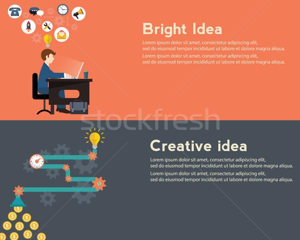 Creative idée générateur lumineuses modernes web Photo stock © Photoroyalty