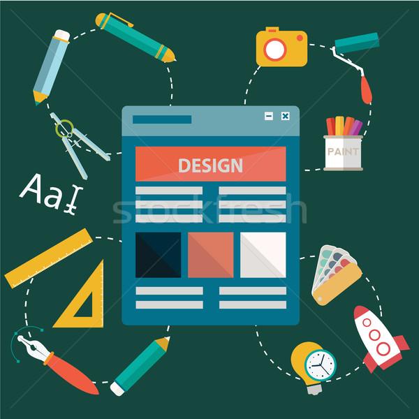 グラフィック Webデザイン アイコン スタイル ペン デザイン ストックフォト © Photoroyalty