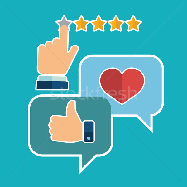 Vector set of customer service in flat style - feedback, survey and support Stock photo © Photoroyalty