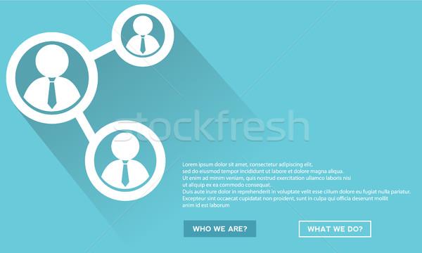 Teamwork design with long shadow Stock photo © Photoroyalty