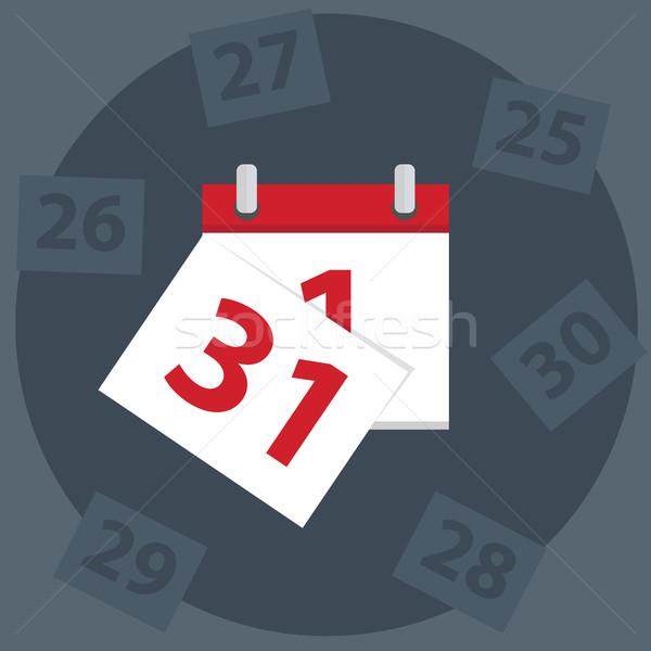 Vettore calendario apps icona ultimo giorno Foto d'archivio © Photoroyalty