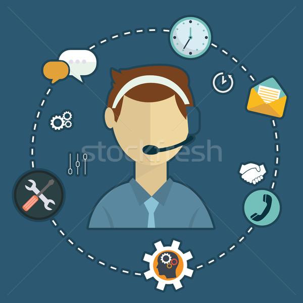 üzlet ügyfélszolgálat szolgáltatás ikon szett kapcsolatfelvétel támogatás Stock fotó © Photoroyalty