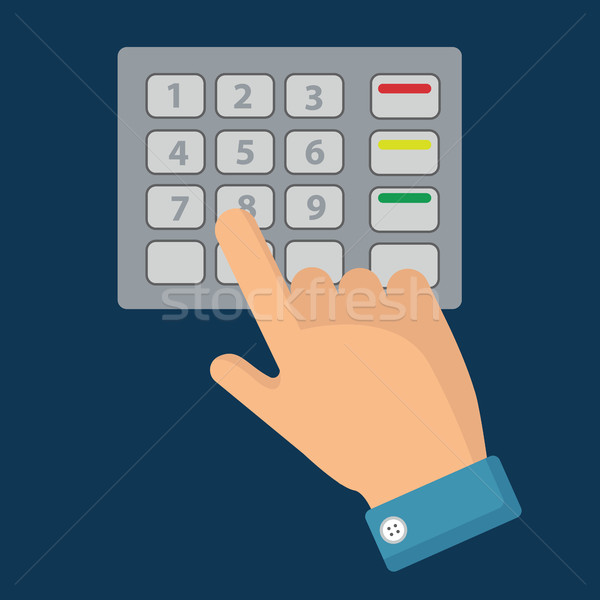 стороны пальца Pin Код комбинация пароль Сток-фото © Photoroyalty
