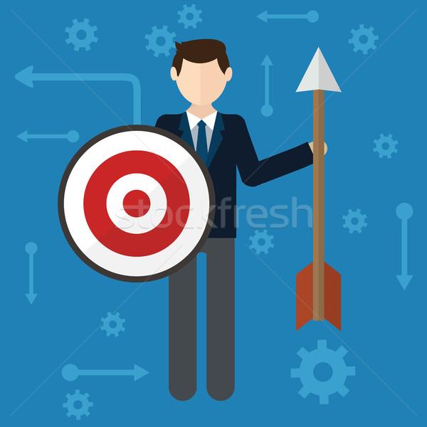 Cél üzletember stratégia modern vektor háttér Stock fotó © Photoroyalty