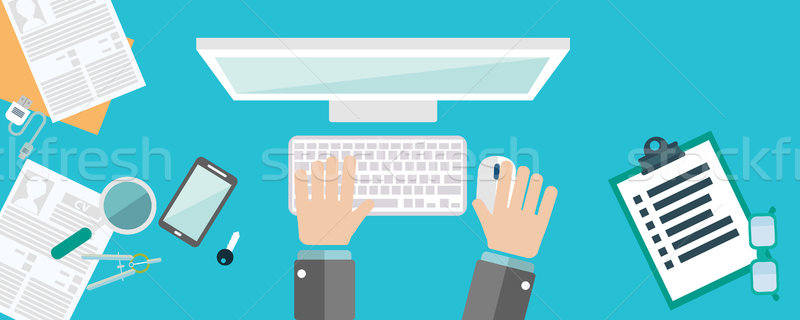Stock photo: Flat design illustration concepts for business analysis and planning, consulting, team work, project