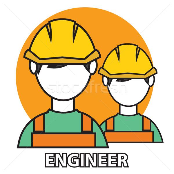 Engenheiro construção fabrico trabalhador ilustração vetor Foto stock © Photoroyalty
