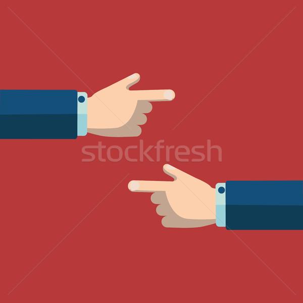 El işaret parmak doğru iletişim bakmak Stok fotoğraf © Photoroyalty