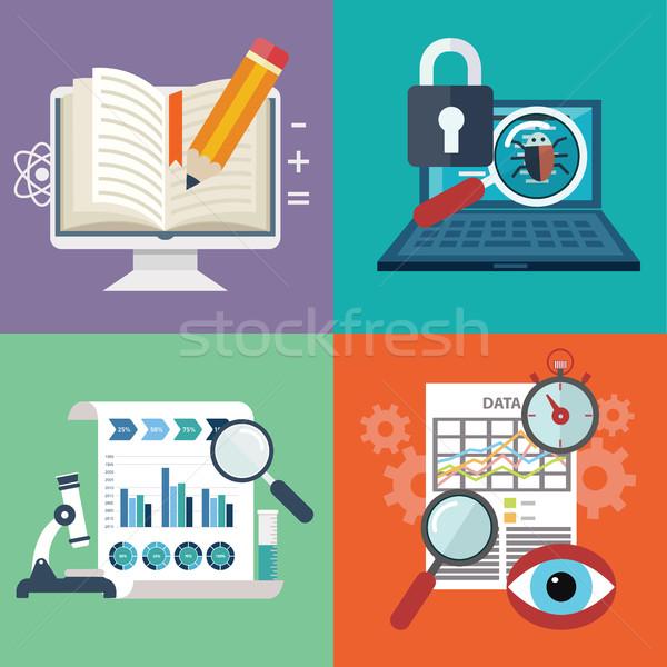 Vecteur ensemble coloré affaires marketing Finance Photo stock © Photoroyalty