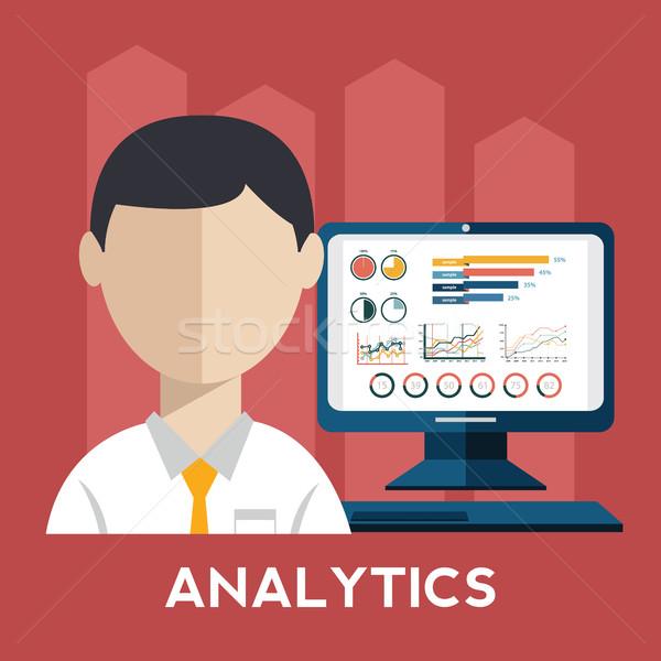 üzletember bemutat üzlet növekedés diagram internet Stock fotó © Photoroyalty