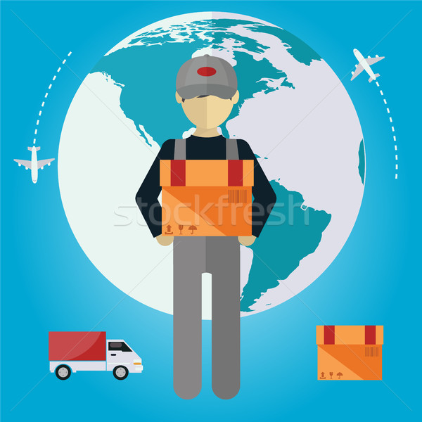 E-commerce delivery . Shopping online all over the globe Stock photo © Photoroyalty