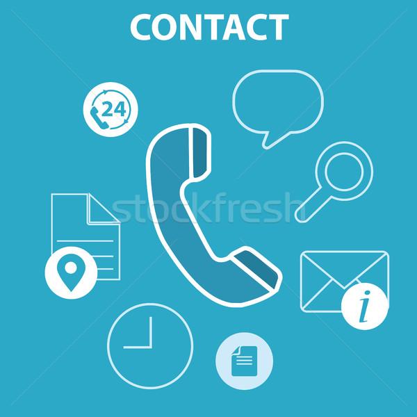 Web teléfono móvil servicios aplicaciones iconos preguntas frecuentes Foto stock © Photoroyalty