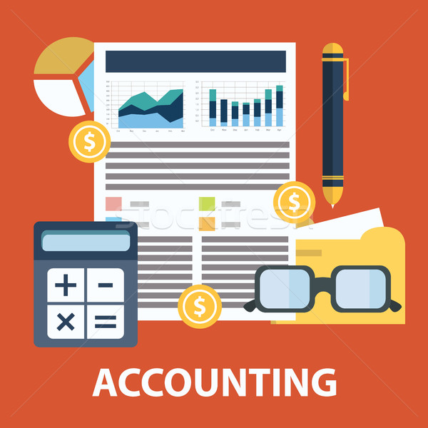 Successful financial business plan report and accounting concept vector illustration Stock photo © Photoroyalty