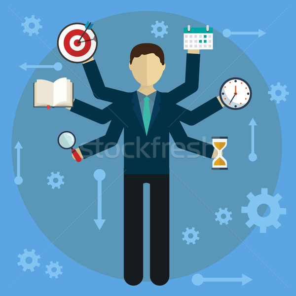 Development and internet service. Human resource and self employment - vector illustration Stock photo © Photoroyalty