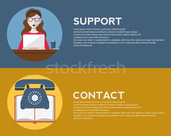 Design icônes web téléphone portable services Photo stock © Photoroyalty