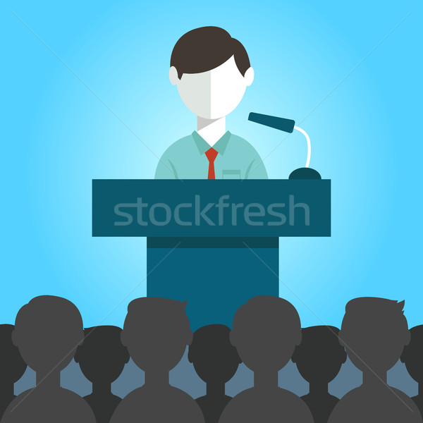 flat modern design Businessman giving a presentation Stock photo © Photoroyalty