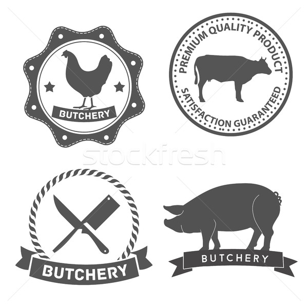 Set of butcher shop labels and design elements Stock photo © Photoroyalty