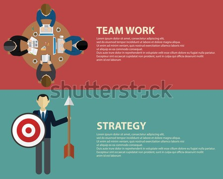 Advertising design concept set media and guerrilla marketing flat icons isolated vector illustration Stock photo © Photoroyalty