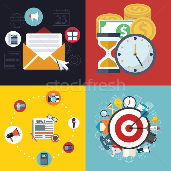 Vector collection of flat and colorful business, marketing and finance concepts. Design elements for Stock photo © Photoroyalty