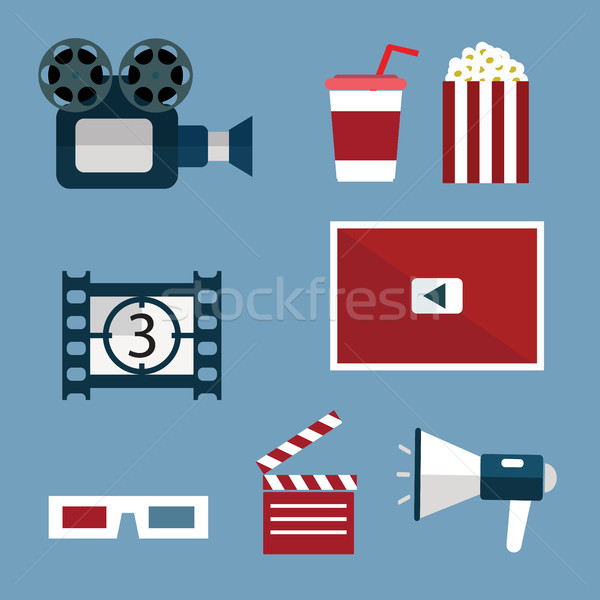 Video and Movie icons set. Stock photo © Photoroyalty
