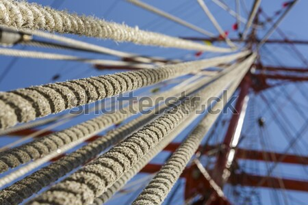 Tall ship rope rigging Stock photo © photosebia