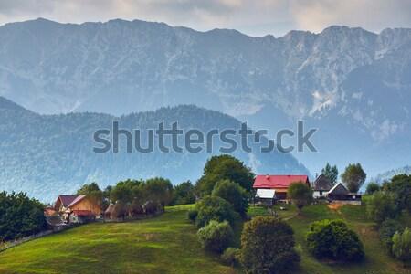 Rural mountain landscape, Transylvania, Romania Stock photo © photosebia