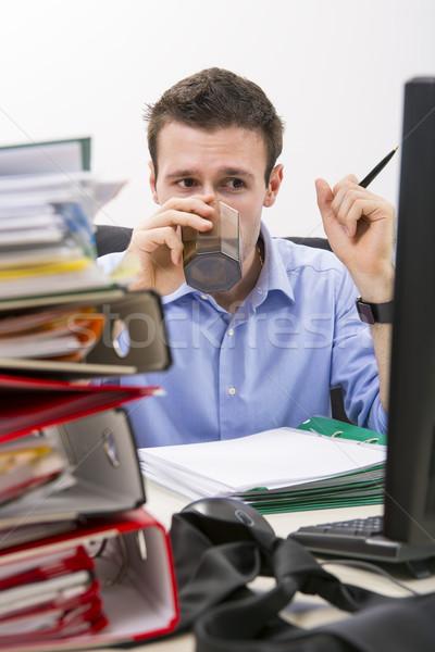 Perseverant businessman at work Stock photo © photosebia