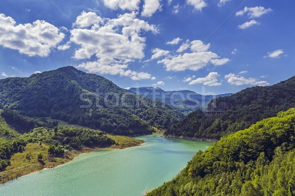горные озеро живописный лет пейзаж гор Сток-фото © photosebia