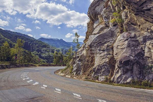 道路 ターン 急 崖 晴れた 夏 ストックフォト © photosebia