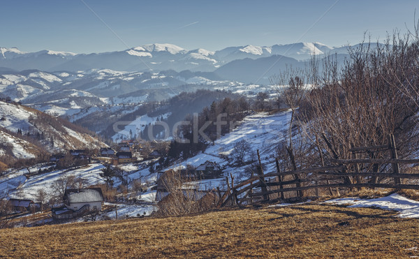 Winter Romanian rural scenery Stock photo © photosebia