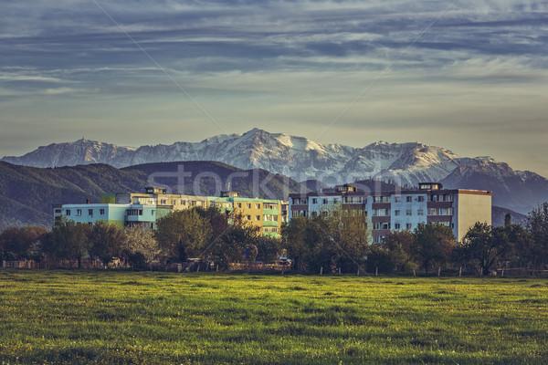 Mountain landscape with block of flats Stock photo © photosebia